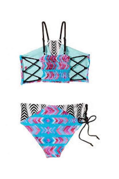 Bo & Arrow Bikini In Turquiose Aztec