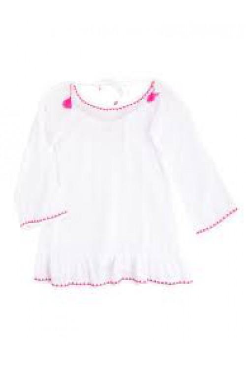 Sunny Tassel Open Back Dress