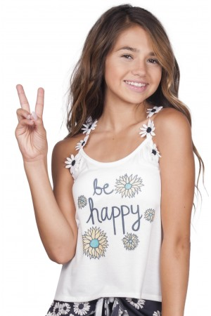 Love and Sunflowers Be Happy Tank