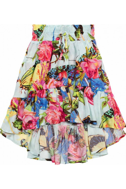 Bustle Skirt-Butterflies & Roses