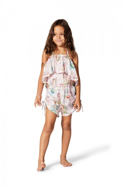 Drawstring Romper-Flower Fairies