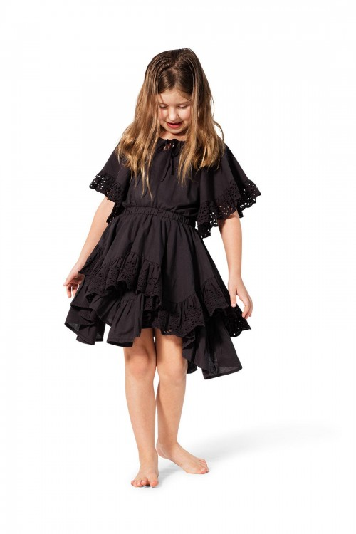 Frilled Lace Swing Dress