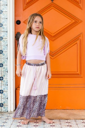 Bowie X James Under The Teepee Maxi Skirt in Lavender