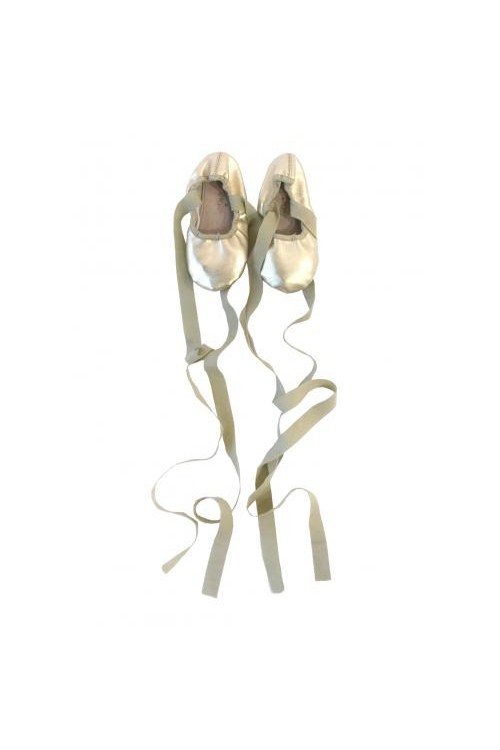 En Pointe Ballet Flats in Ice Gold